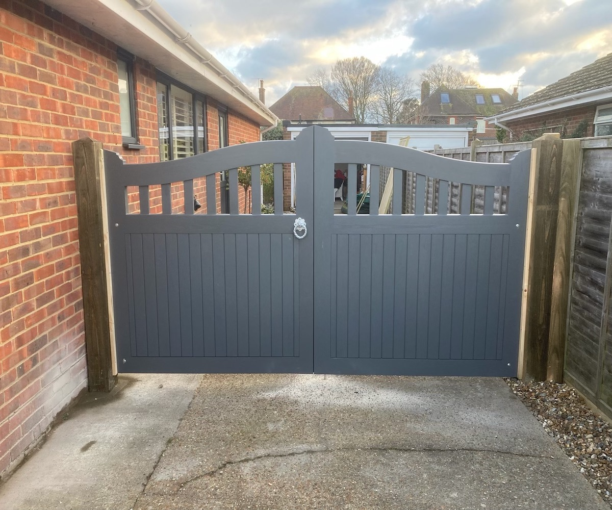 75 Bespoke driveway gates, painted by customer