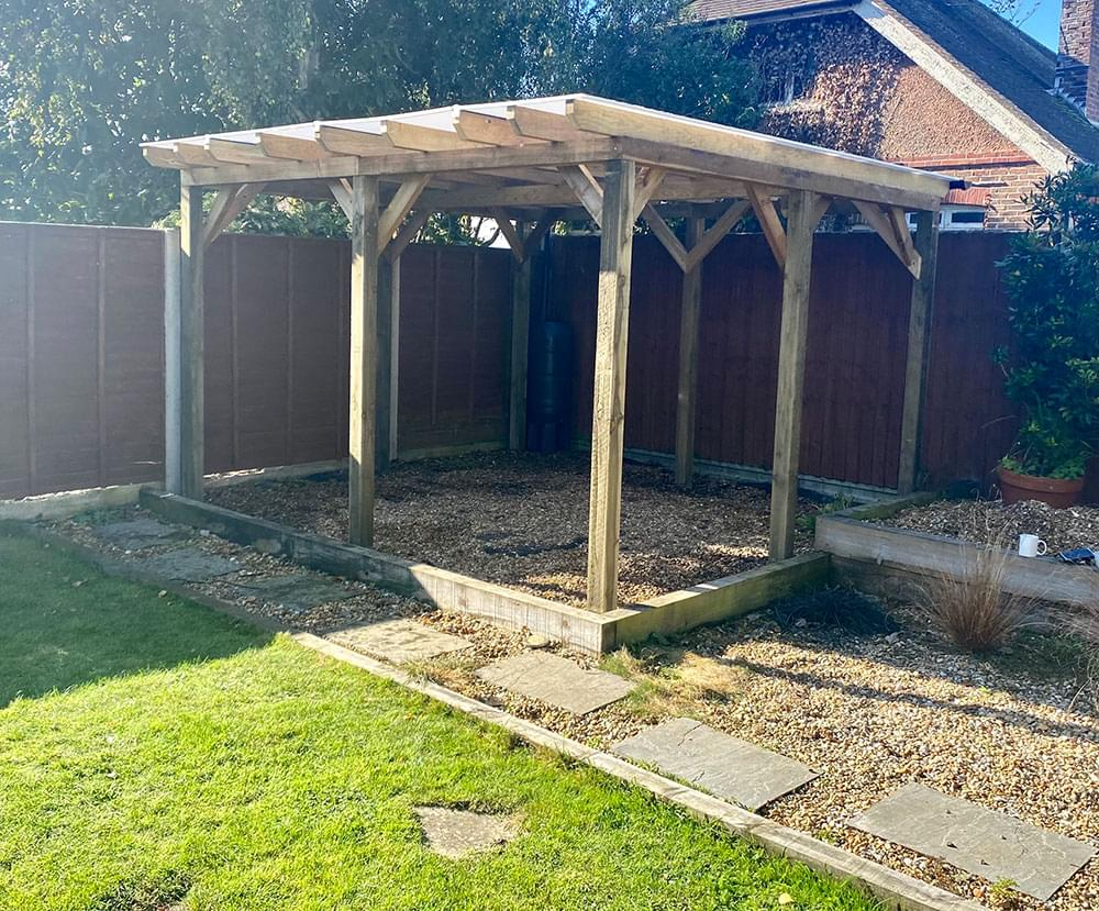 73 Bespoke covered pergola