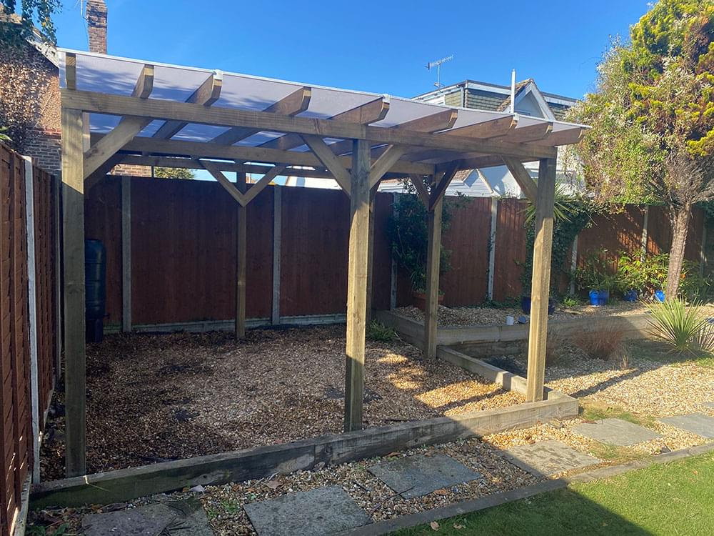74 Bespoke covered pergola