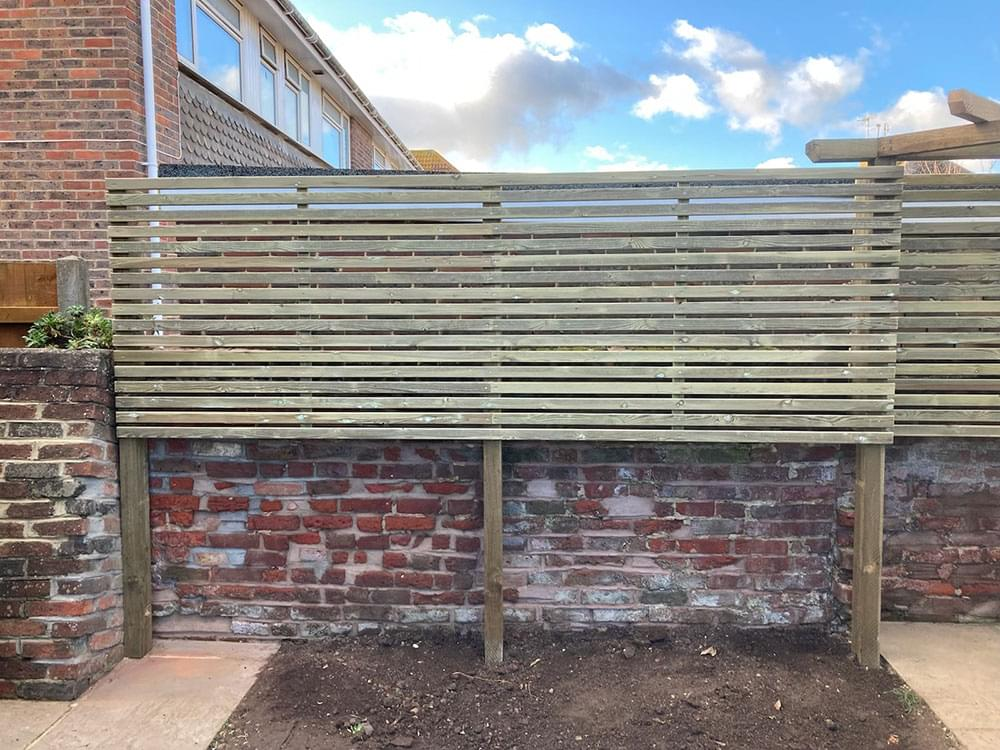 51 Prepared timber bespoke slatted fencing